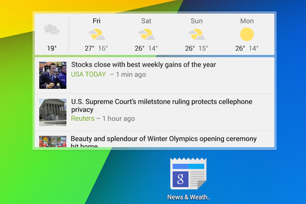 Google-News-and-Weather-2-Android-widget
